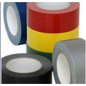 PVC tape wit of bruin 50mm x 66meter doos 36 rol