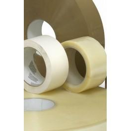 Doos PP Solvent tape 50mm x 66m trans, bruin, wit