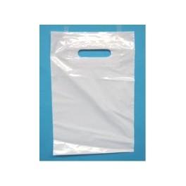 Plastic draagtassen wit 37x44 cm 100 stuks