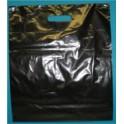 Plastic draagtassen zwart 38x44 cm 100 stuks