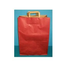 papieren draagtas rood 32x43 cm 50 stuk