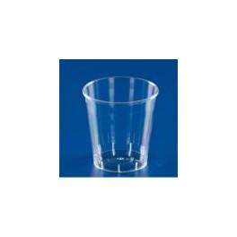 plastic glazen sinasappelsap Jus d'orange