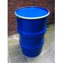 Metalen vat 120 liter blauw