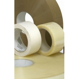 6 rol PP hotmelt tape 50mm x 990m transparant, bruin
